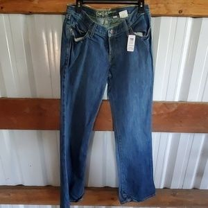 Cruel girl low and lean bellbottom jeans